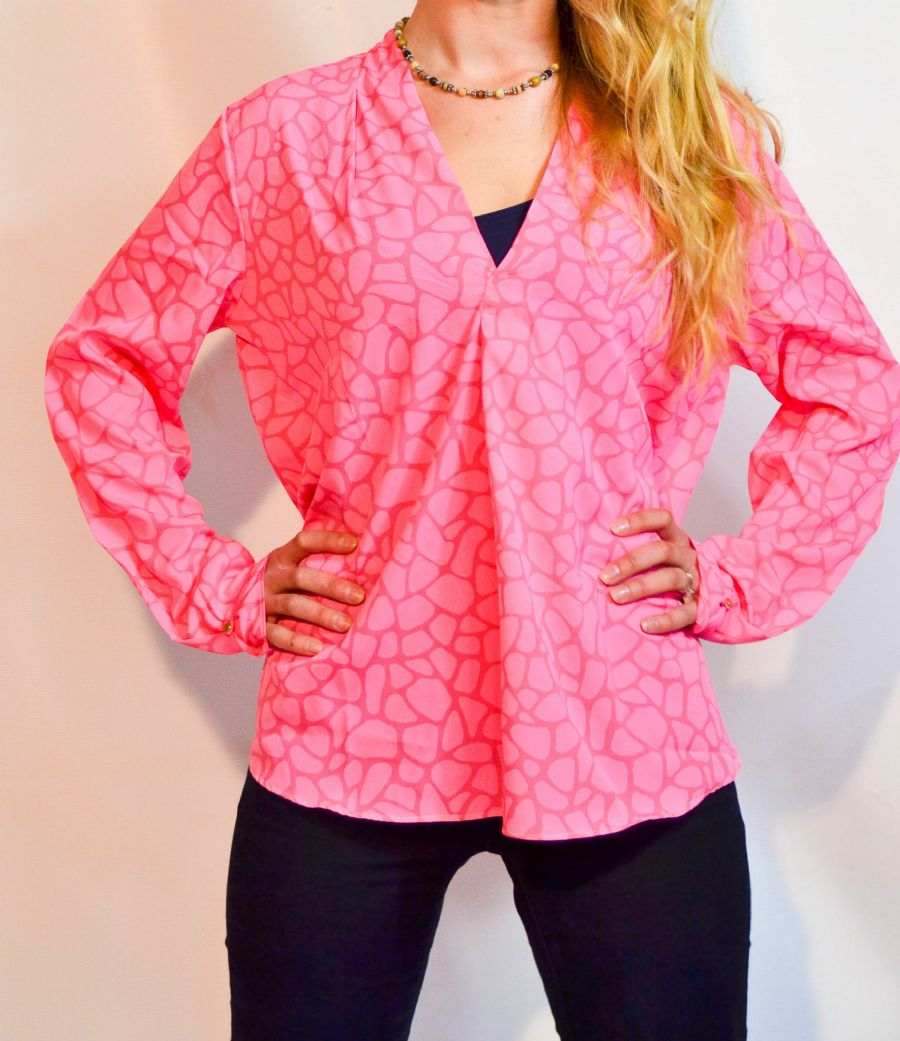 Mia Blouse Flamingo Pink WAS £68 NOW 50% OFF